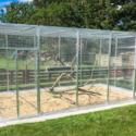 KNL Volieren´s Stål voliere 3x5 meter Inkl. 3x13 cm rustfri foderkarrusel